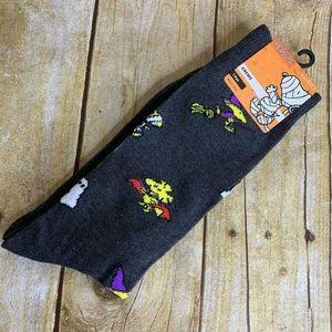 Novelty Socks Peanuts Woodstock Halloween Crew Men